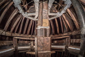 Inside the cupola on top of the Dome. (Photo by Matt Cashore/University of Notre Dame)